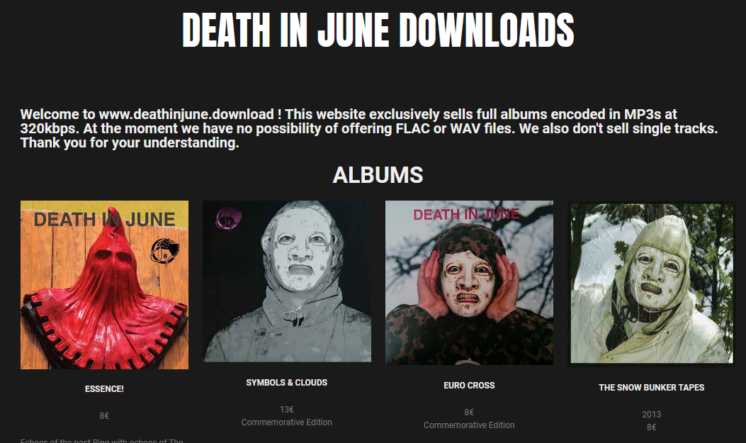 DEATH IN JUNE Official Site